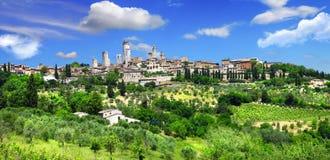 San gimignano Włochy zdjęcia royalty free