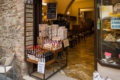 San Gimignano Wine & Olive Stock Image