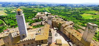 San Gimigniano, Tuscany, Italien Arkivbilder