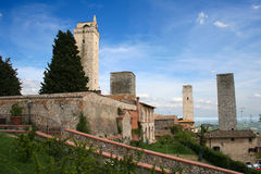 San Giminiano in Italy / Tuscany. This is San Giminiano in Italy / Tuscany Stock Images