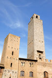 San Giminiano towers in Tuscany, Italy Royalty Free Stock Images