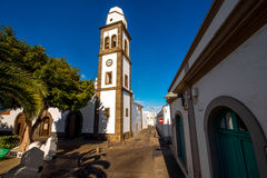 San Gines church in Arrecife city on Lanzarote island Stock Images