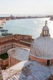 San Giorgio che guarda sopra Venezia Immagini Stock