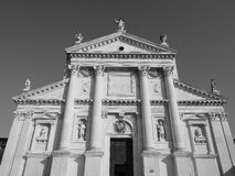San Giorgio church in Venice in black and white Stock Images