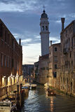 San Giorgio dei Greci, leaning tower of venice Royalty Free Stock Image