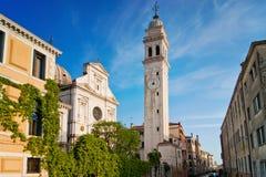 San Giorgio dei Greci med dess campanile Fotografering för Bildbyråer