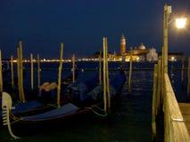 San Giorgio Maggiore ö och kyrka i Venedig Italien arkivbilder