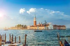 San Giorgio Maggiore ö på soluppgång, Venedig, Italien Fotografering för Bildbyråer