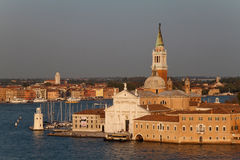 San Giorgio Maggiore. The Basilica of San Giorgio Maggiore which is on its own island in Venice, Italy Stock Photo