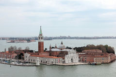 San Giorgio Maggiore. Is a basilica on the island of , facing the Piazzetta in Venice, is part of the monastery of the same name. It was built by Andrea Stock Photo