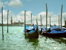 San Giorgio Maggiore Church. View of buildings across the lagoon, venedig italien stock photos