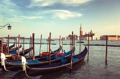 San Giorgio Maggiore church and boats Stock Image