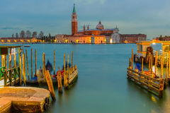 San Giorgio Maggiore Church at dusk, Venice, Italy Stock Photo