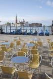 San Giorgio Maggiore Church and Gondola Boats, Venice Stock Image