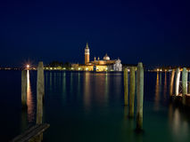 San Giorgio Maggiore church Long exposure By Night. Stock Photography