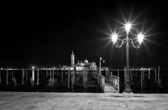 San Giorgio Maggiore church Long exposure By Night. Royalty Free Stock Photo