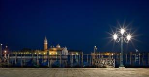 San Giorgio Maggiore church Long exposure By Night. Stock Image