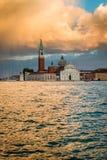 San Giorgio Maggiore Church in sunset, Venice Stock Photo