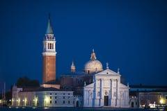 San Giorgio Maggiore at twilight, Venice, Italy Royalty Free Stock Photo