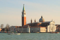 San Giorgio Maggiore church in Venice, Italy. Stock Photos
