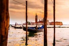 San Giorgio Maggiore Church, vista dall'argine di San Marco Venezia Immagine Stock Libera da Diritti