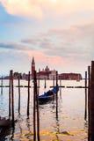 San Giorgio Maggiore Church, vista dall'argine di San Marco Venezia Fotografie Stock Libere da Diritti