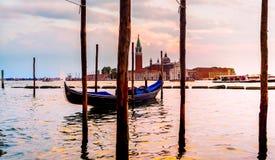 San Giorgio Maggiore Church, vista dall'argine di San Marco Venezia Fotografie Stock