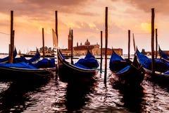 San Giorgio Maggiore Church, vista dall'argine di San Marco Venezia Immagini Stock Libere da Diritti