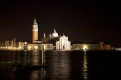 San Giorgio Maggiore em Veneza na noite Imagem de Stock Royalty Free