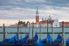 San Giorgio Maggiore i gondole, Wenecja Obraz Royalty Free