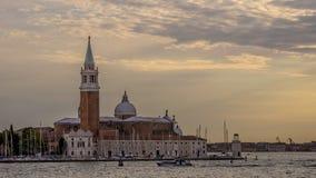 SAN Giorgio Maggiore Island στο ηλιοβασίλεμα, Βενετία, Ιταλία Στοκ εικόνα με δικαίωμα ελεύθερης χρήσης