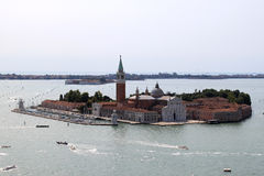San Giorgio Maggiore island and church near Venice Stock Photos