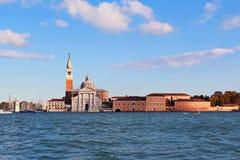 San Giorgio Maggiore Island en Veneza Fotos de archivo libres de regalías