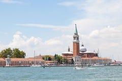 San Giorgio Maggiore Island and the marina, Venice, Italy Stock Images