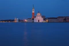 San Giorgio Maggiore Island at night Royalty Free Stock Photo