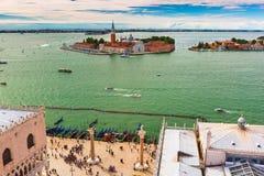 San Giorgio Maggiore island to Venice, Italy Royalty Free Stock Image