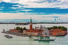 San Giorgio Maggiore island to Venice, Italy Stock Photo