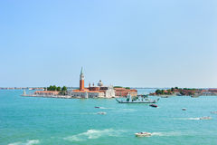 San Giorgio Maggiore Island in Venice Stock Photos