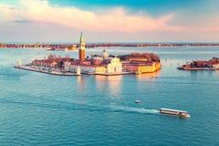 San Giorgio Maggiore island, Venice Royalty Free Stock Images
