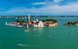 San Giorgio Maggiore island in Venice Stock Photography
