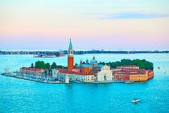 San Giorgio Maggiore Island in Venice royalty free stock photography