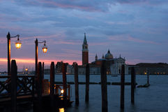 San Giorgio Maggiore just before dawn Royalty Free Stock Images