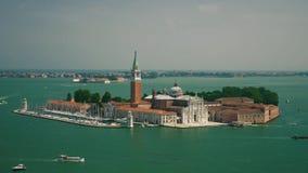 San Giorgio Maggiore kościół i latarnia morska w Wenecja odgórnym widoku