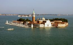 San Giorgio Maggiore kościół w Wenecja Włochy i wyspa fotografia royalty free