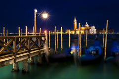 San Giorgio Maggiore na lagoa Venetian em Veneza, Itália Foto de Stock Royalty Free