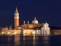 San Giorgio Maggiore at night Royalty Free Stock Image