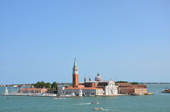 San Giorgio Maggiore - Venice - Italy. San Giorgio Maggiore is one of the islands of Venice, northern Italy. San Giorgio is now best known for the Church of San Stock Photography