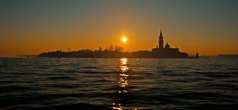 San Giorgio Maggiore at sunset Stock Photo