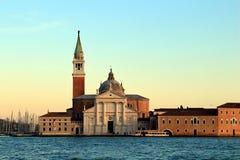 San Giorgio Maggiore at sunset. Venice, Italy. San Giorgio Maggiore at sunset stock image