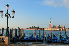 San Giorgio Maggiore a Venezia ha osservato vicino al quadrato di St Mark Fotografie Stock